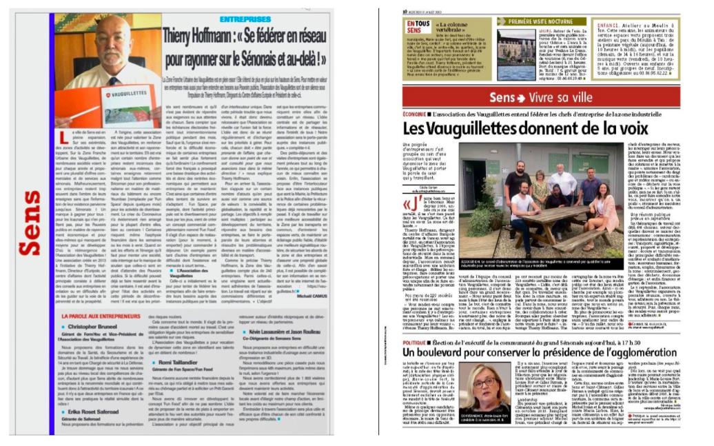 L'association des Vauguillettes mise à l'honneur dans la presse locale !