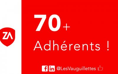Les Vauguillettes comptabilise plus de 70 adhérents !