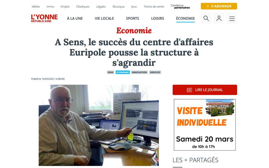 Euripole dévoile son nouveau projet dans un article de l'Yonne Républicaine